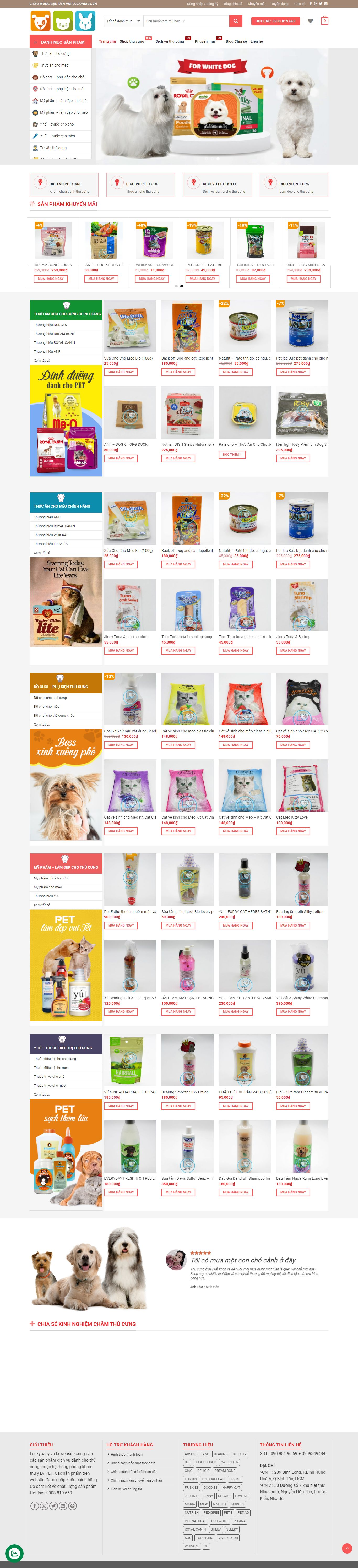 Thiết kế Website dịch vụ thú y - luckybaby.vn