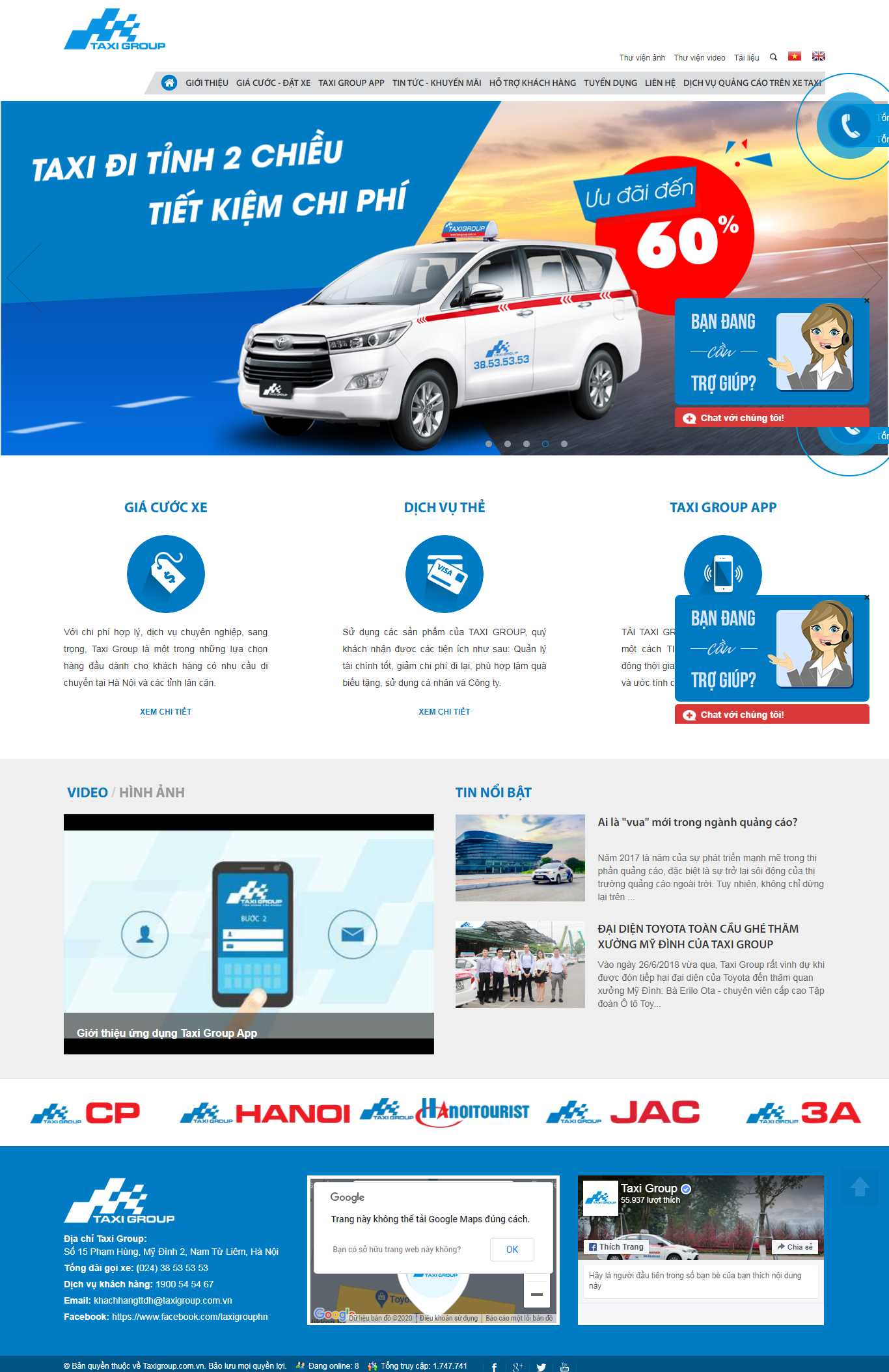 Thiết kế Website hãng taxi - taxigroup.com.vn