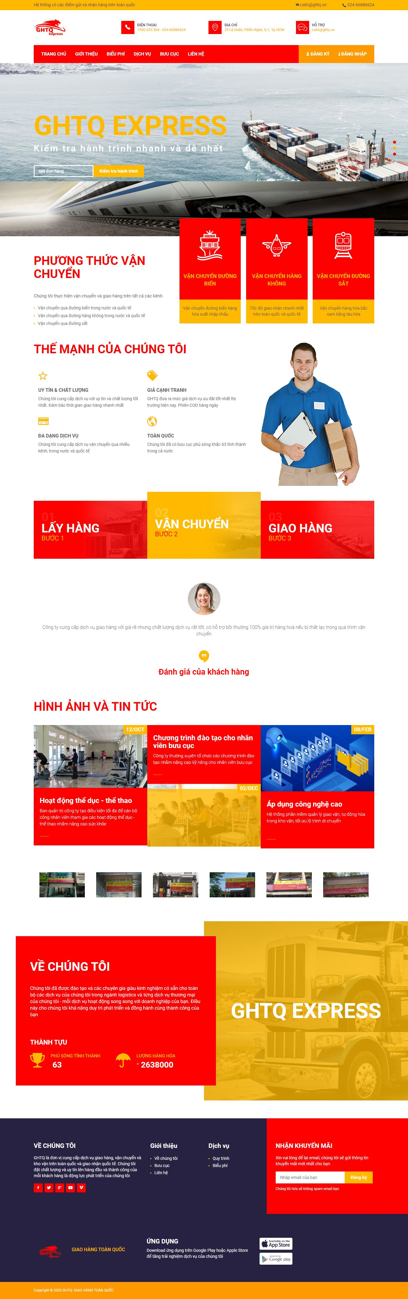Thiết kế Website ship hàng - giaohangtoanquoc.vn