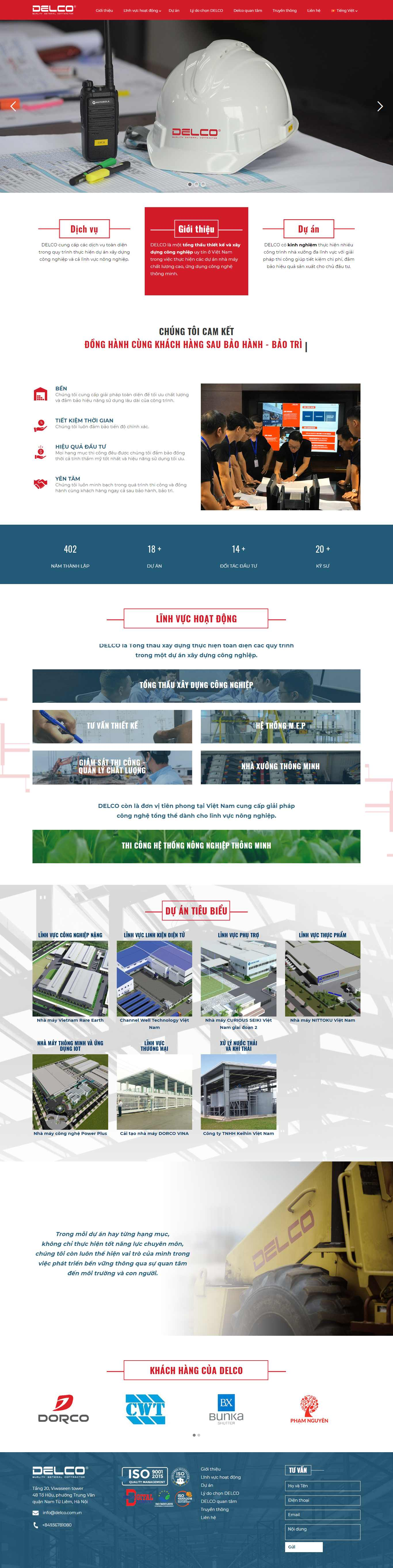 Thiết kế Website công ty xây dựng - delco-construction.com