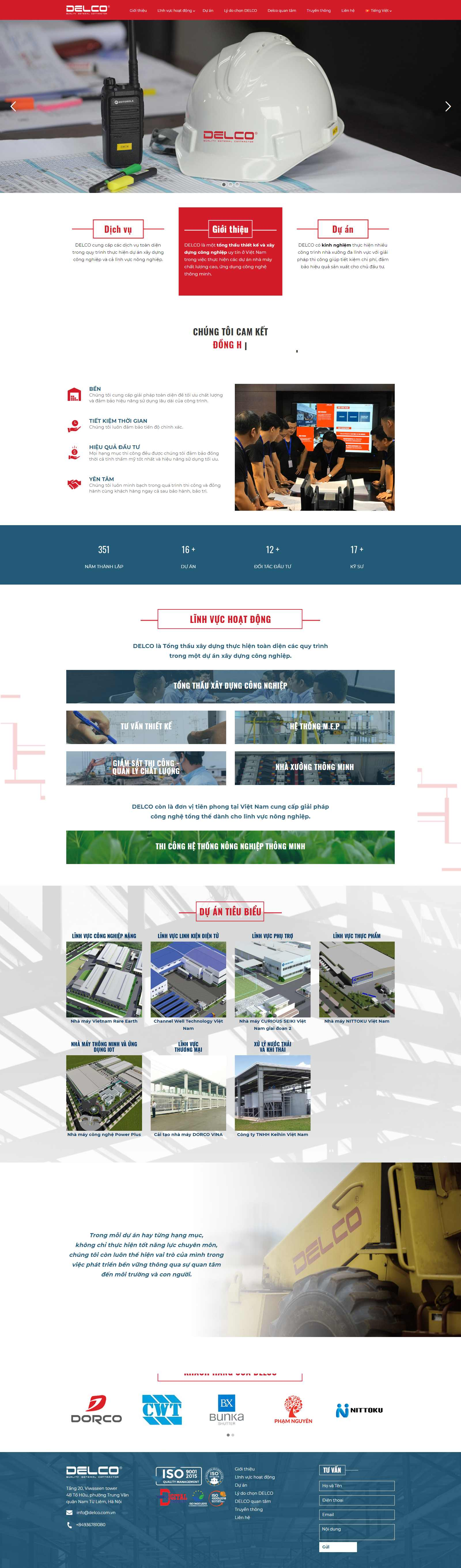 Thiết kế Website xây dựng - delco-construction.com