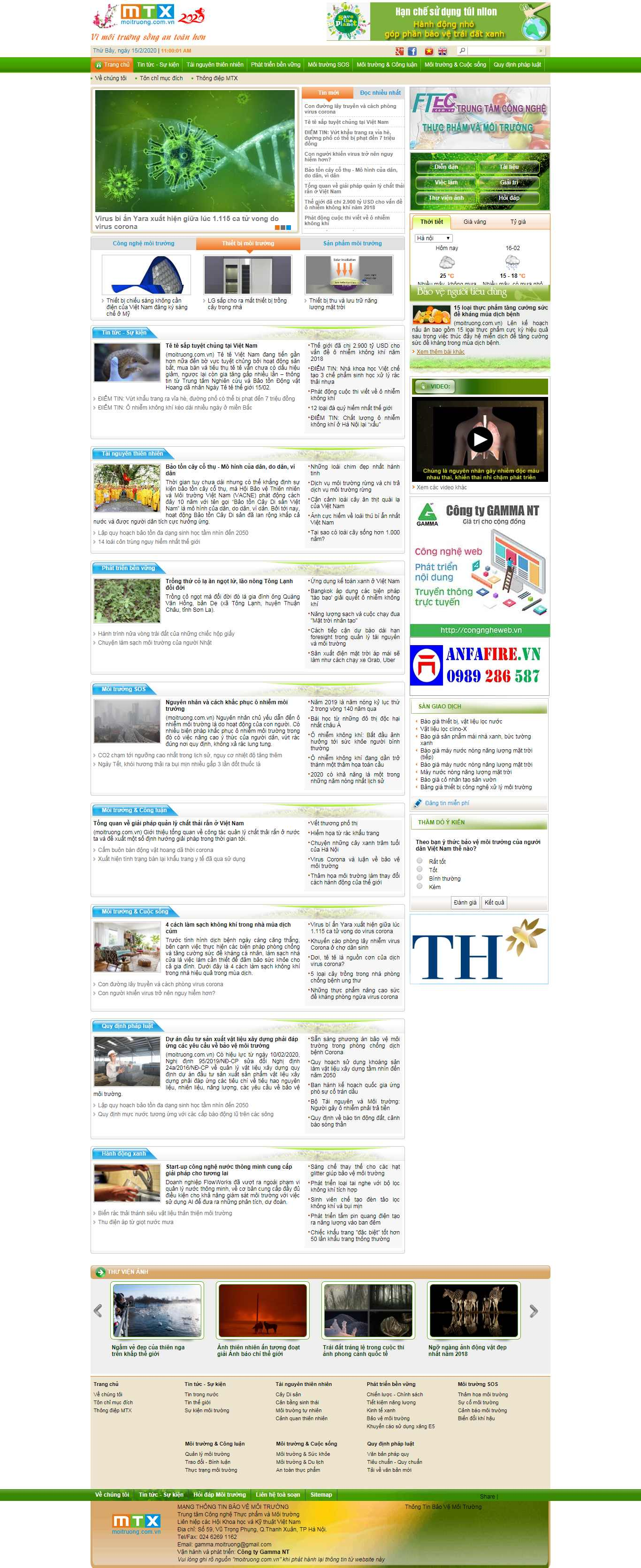 Thiết kế Website mội trường - moitruong.com.vn