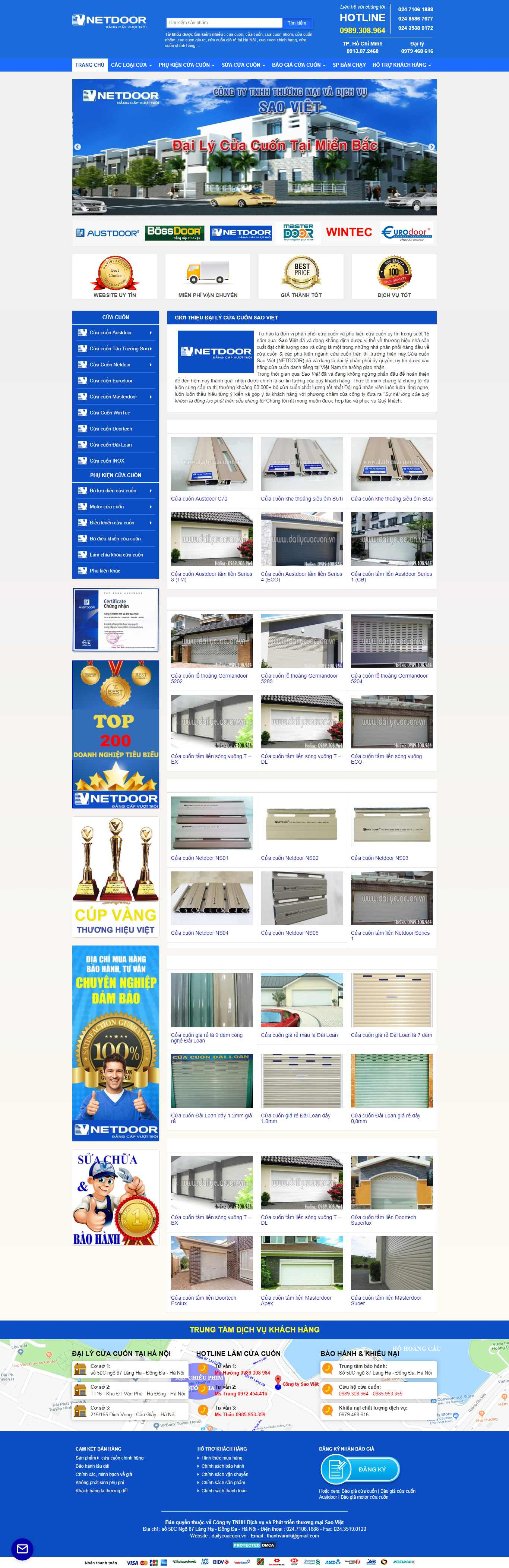 Thiết kế Website cửa cuốn - dailycuacuon.vn
