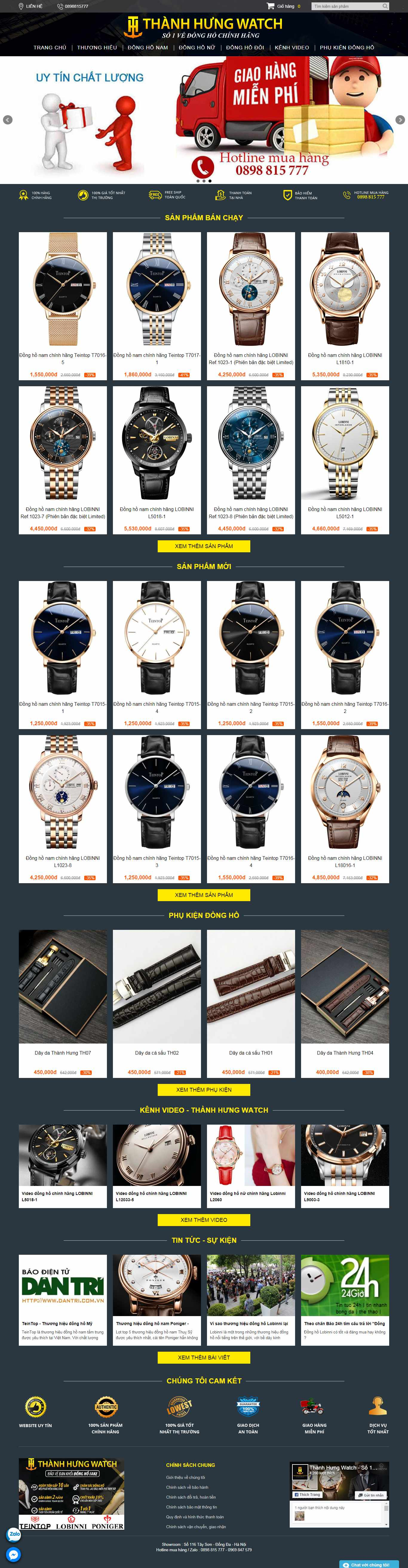 Thiết kế Website uy tín - thanhhungwatch.vn