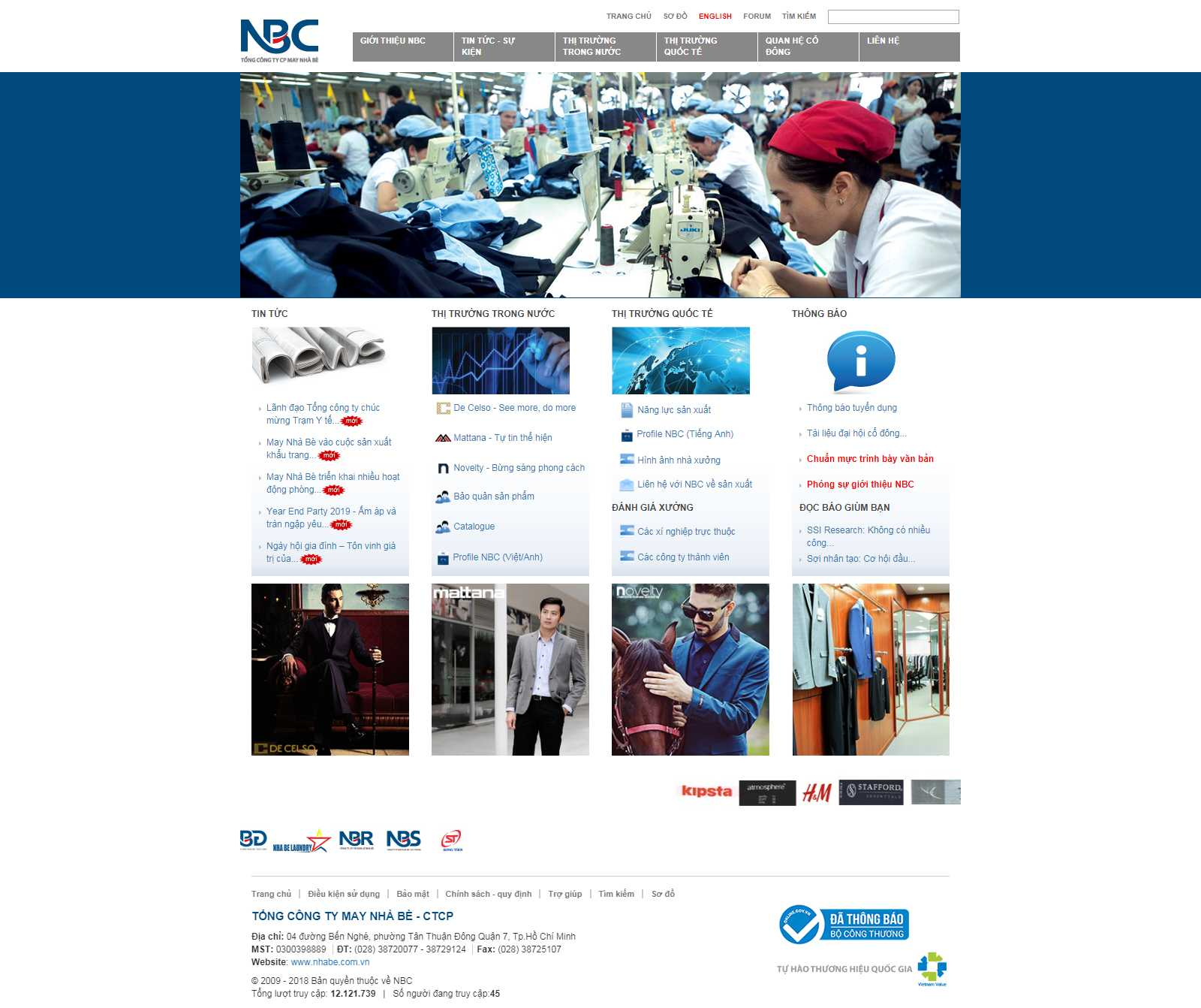 Thiết kế Website công ty may - www.nhabe.com.vn