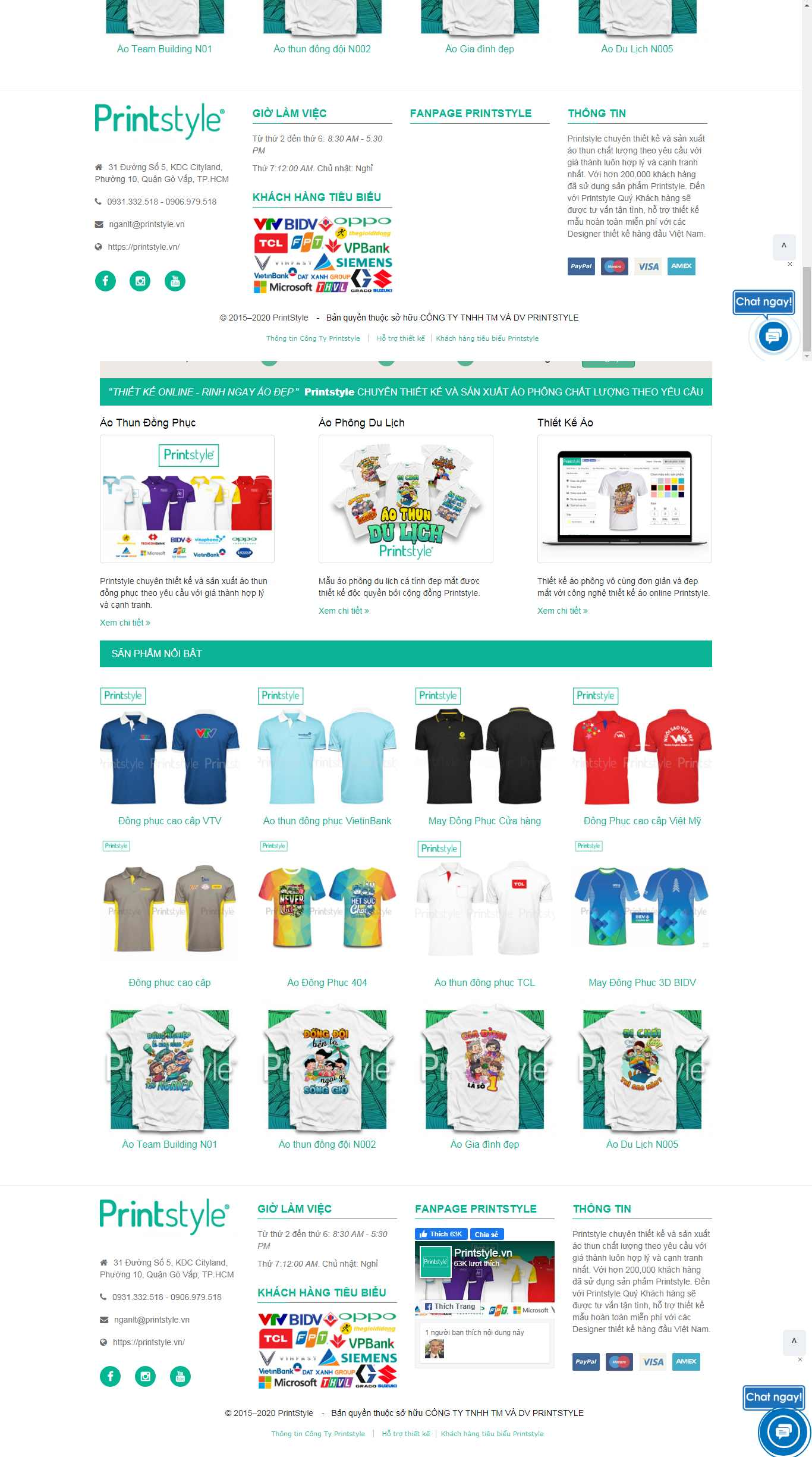 Thiết kế Website may đồng phục - printstyle.vn