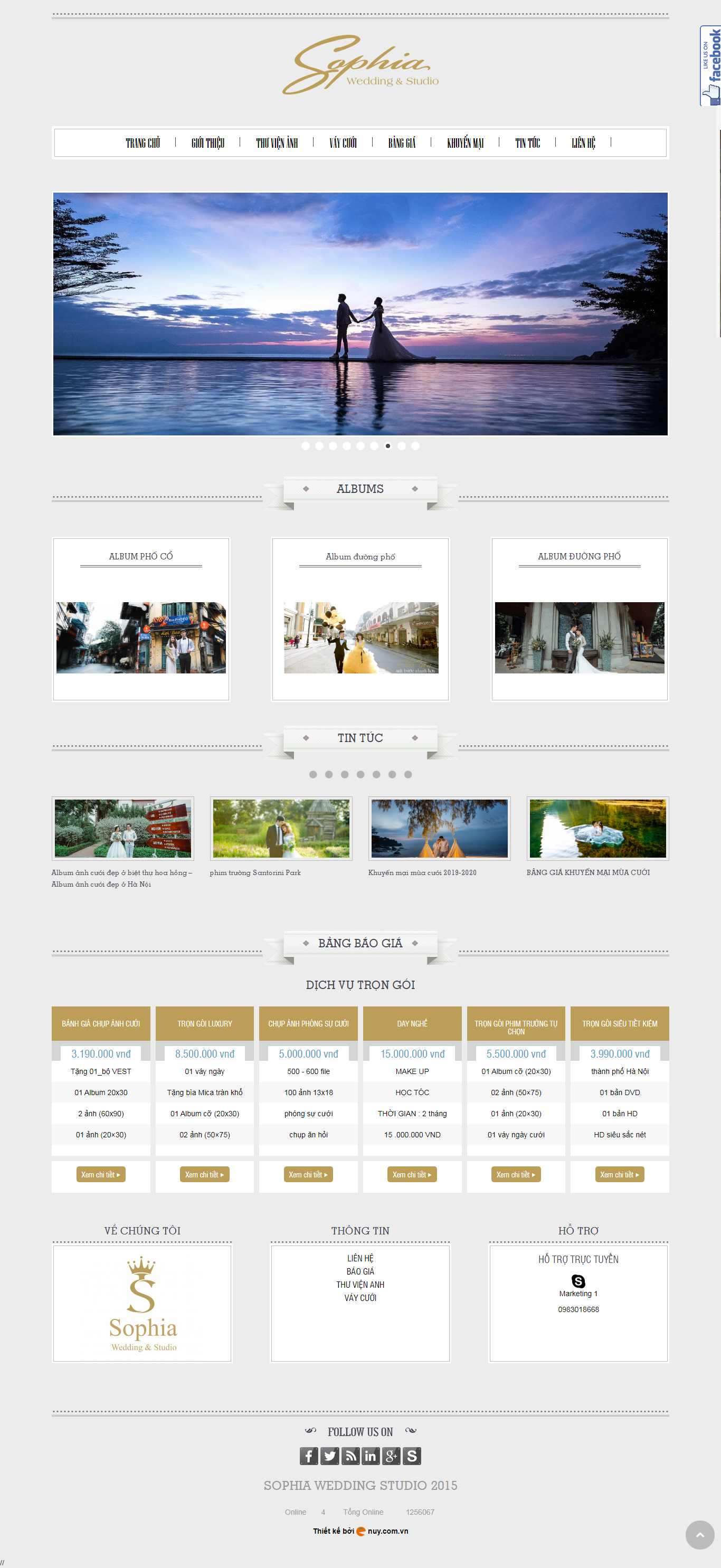 Thiết kế Website ảnh viện - www.anhvienaocuoi.vn