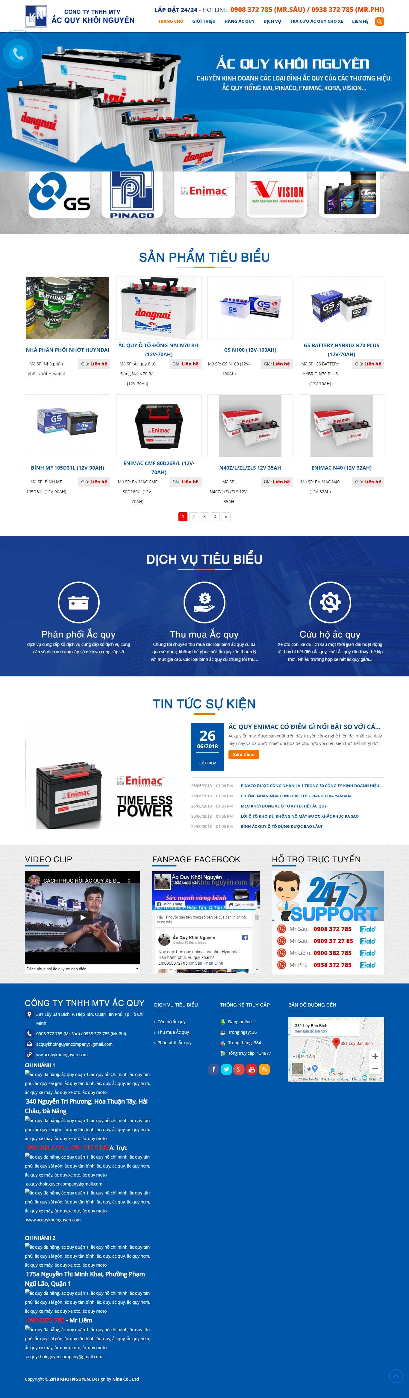 Thiết kế Website ắc quy - acquykhoinguyen.com